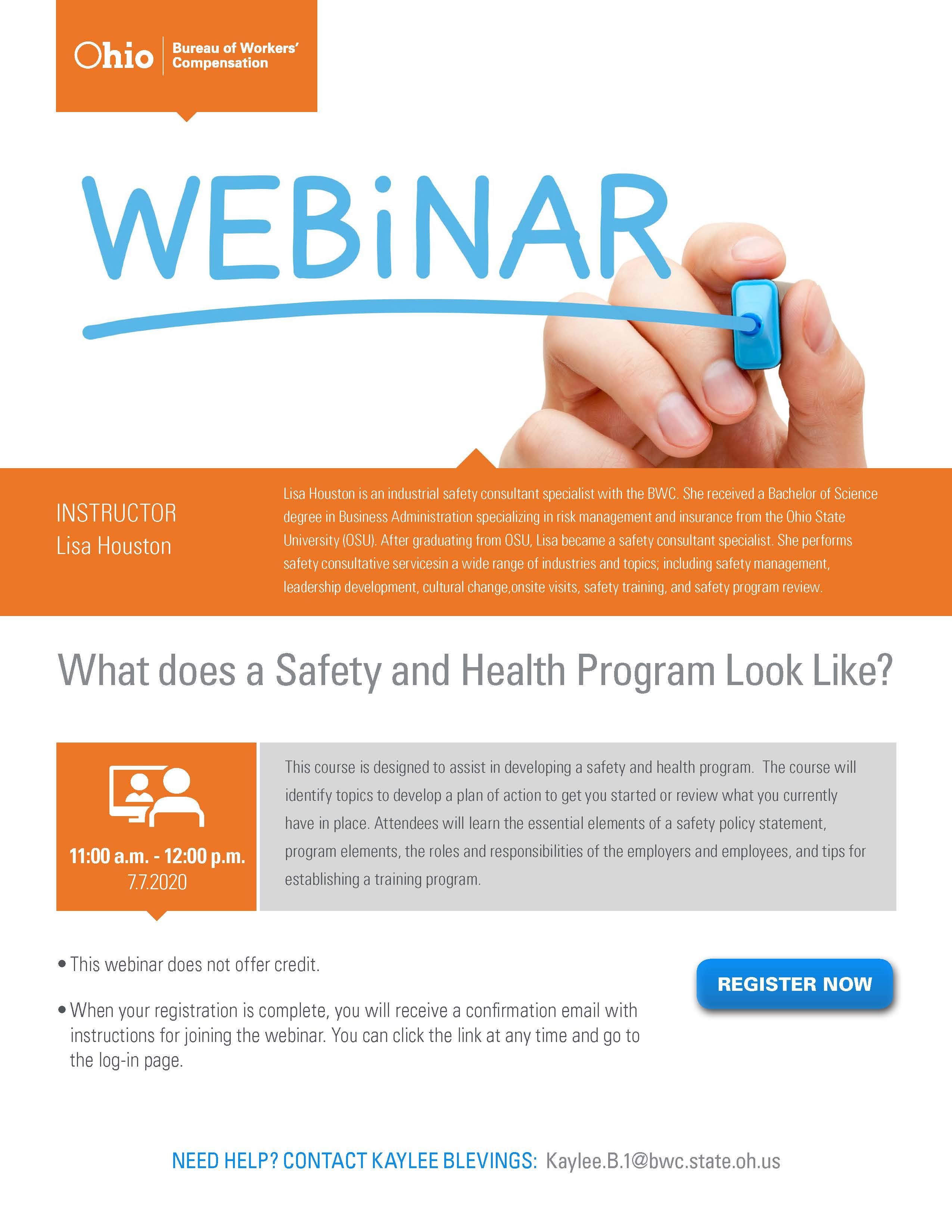 What does a Safety and Health Program Look Like Flyer